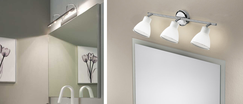 Illuminazione specchio bagno faretti lampade e applique progetti in luce - Applique per specchio bagno classico ...